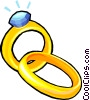 Vector Clipart image  of a Wedding rings