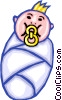 Vector Clipart image  of a Babies