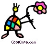Vector Clipart graphic  of a Children Playing