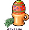 Vector Clipart picture  of a Easter egg