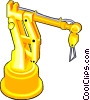 Vector Clip Art image  of a Robotic arm