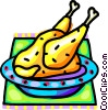 Vector Clip Art graphic  of a Roast turkey