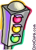 Vector Clipart image  of a Traffic Signals