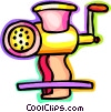 Vector Clip Art image  of a Meat Grinders