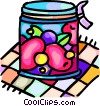 Vector Clip Art picture  of a preserves