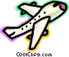 Commercial Jets Vector Clipart graphic