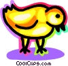 Vector Clipart image  of a chick