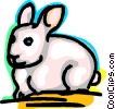 Vector Clip Art picture  of a Rabbits