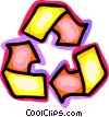 Recycling Symbols Vector Clip Art graphic