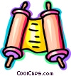Vector Clipart picture  of a scrolls