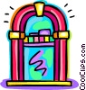 Vector Clip Art graphic  of a Jukeboxes