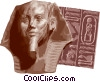 Vector Clip Art image  of a Egyptian bust