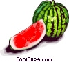 Vector Clip Art image  of a Slice of watermelon