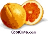 Vector Clipart illustration  of a Sliced orange