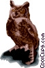 Vector Clipart graphic  of a Owls