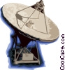 Vector Clip Art graphic  of a Large satellite dish