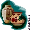 Egyptian vases Vector Clip Art picture