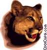 Vector Clip Art image  of a Mountain lion
