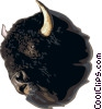 Vector Clipart picture  of a Bison