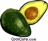 Vector Clip Art picture  of a Sliced avocado