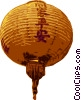 Vector Clip Art image  of a Chinese lantern