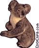 Vector Clipart picture  of a Koala Bear