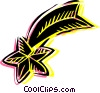 Vector Clipart image  of a Shooting star