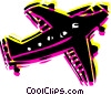 Vector Clipart illustration  of a Commercial airplane