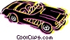 Vector Clipart graphic  of a Convertible car