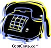 Home phone Vector Clipart graphic
