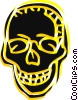 Vector Clipart picture  of a Human skull
