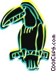 Vector Clip Art graphic  of a Toucan on branch