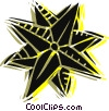 Vector Clip Art image  of a Christmas star