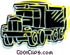 Vector Clip Art image  of a Dump truck