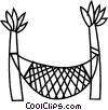 Vector Clip Art picture  of a hammock