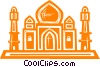 Vector Clip Art image  of a Taj Mahal