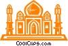 Taj Mahal Vector Clipart image