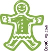 gingerbread cookie Vector Clip Art picture