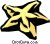 Vector Clip Art picture  of a star fruit