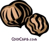 Vector Clip Art image  of a chestnut