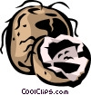 Vector Clipart image  of a coconut