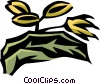 borage Vector Clipart illustration