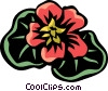 Vector Clip Art picture  of a nasturtium