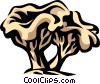 Vector Clipart image  of a chanterelle