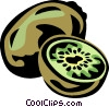 Vector Clipart graphic  of a kiwi
