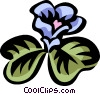 Vector Clip Art graphic  of a wood sorrel