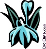 Vector Clip Art image  of a satin flower