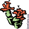 Vector Clip Art graphic  of a Christmas cactus