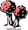 Vector Clipart picture  of a wild mushroom
