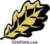 oak leaf Vector Clip Art graphic